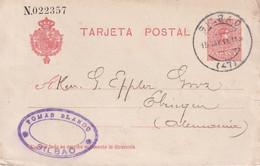 ESPAGNE 1911 ENTIER POSTAL/GANZSACHE/POSTAL STATIONARY CARTE DE BILBAO - 1850-1931