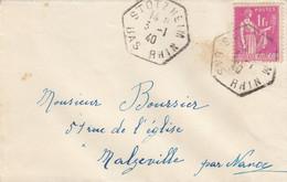 LETTRE. 3 1 40. 369 SEUL. STOTZHEIM BAS-RHIN POUR MALZEVILLE NANCY  /  2 - 1921-1960: Modern Tijdperk