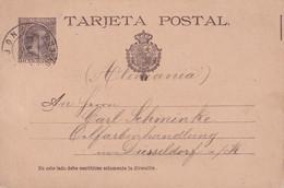 ESPAGNE 1893 ENTIER POSTAL/GANZSACHE/POSTAL STATIONARY CARTE - 1850-1931
