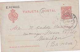 ESPAGNE 1907 ENTIER POSTAL/GANZSACHE/POSTAL STATIONARY CARTE DE SANTANDER - 1850-1931