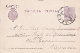 ESPAGNE 1921 ENTIER POSTAL/GANZSACHE/POSTAL STATIONARY CARTE DE BILBAO - 1850-1931
