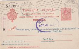 ESPAGNE 1912 ENTIER POSTAL/GANZSACHE/POSTAL STATIONARY CARTE DE BARCELONA - 1850-1931