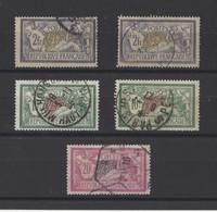 FRANCE. YT   N° 122-207-208  Obl   1900-25 - 1900-27 Merson
