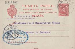 ESPAGNE 1905 ENTIER POSTAL/GANZSACHE/POSTAL STATIONARY CARTE DE BARCELONA - 1850-1931
