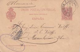 ESPAGNE 1896 ENTIER POSTAL/GANZSACHE/POSTAL STATIONARY CARTE DE MADRID - 1850-1931