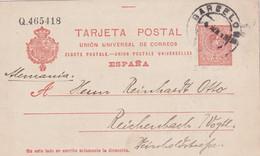 ESPAGNE 1913 ENTIER POSTAL/GANZSACHE/POSTAL STATIONARY CARTE DE BARCELONA - 1850-1931
