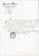 ITALIA ITALIE 1855 MUNICIPIO DI JESI PROVINCIA DI ANCONA - Marcophilia