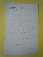 Lettre Autographe Théodore ROSE (1852-1917) Député Du PAS DE CALAIS - Autographs