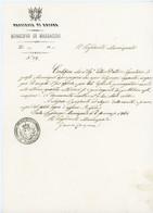 ITALIA ITALIE 1861 MUNICIPIO DI MASSACCIO PROVINCIA ANCONA - Poststempel