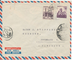 Egypt Air Mail Cover Sent To Denmark 1-10-1955 - Poste Aérienne