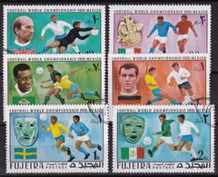 Fujeira 1970, Soccer Complete Set Vfu - Fujeira