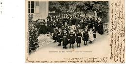 Bourges. Institution De Melle Thomas. Cour De Récréation. (Très Animée) - Bourges