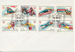 Austria Cover With 8 Olympic Games Stamps Innsbruck-Neuarzl 29-1-1976 - 1971-80 Cartas