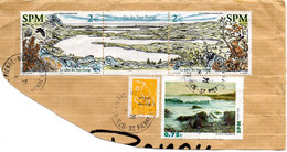 Timbres St-Pierre-et-Miquelon 853,854,841 Sur Fragment. - Oblitérés