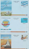 ESPAGNE    ENTIER POSTAL/GANZSACHE/POSTAL STATIONARY LOT DE 10 AEROGRAMMES - 1931-....
