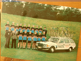 Cyclisme - Carte Publicitaire MASTA 1981 : Le Groupe - Cycling