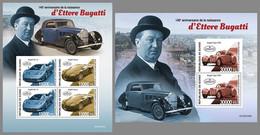 GUINEA REP. 2020 MNH Ettore Bugatti Cars Autos Voitures M/S+S/S - OFFICIAL ISSUE - DHQ2110 - Autos