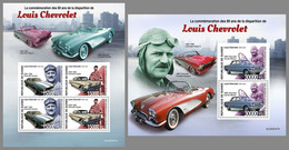 GUINEA REP. 2020 MNH Louis Chevrolet Cars Autos Voitures M/S+S/S - OFFICIAL ISSUE - DHQ2110 - Autos
