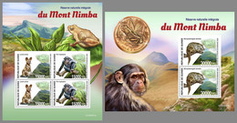 GUINEA REP. 2020 MNH Mount Nimba Reserve Monkeys Affen Singes M/S+S/S - OFFICIAL ISSUE - DHQ2110 - Mono