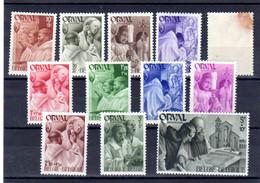 Belgique 1941, 4° Orval Série « Les Moines », 556 / 567** (tache Couleur Sur 75c), Cote 11,75 € - Neufs