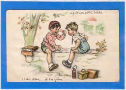 """ILLUSTRATEURS Signés - GERMAINE BOURET  """"on Fait Une Petite Belote..."""" - Bouret, Germaine"""