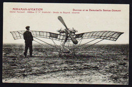 """MIRAMAS AVIATION: Plan TOP Sur """"La Demoiselle"""", Monoplan De Santos- Domont, Pilote Dufour. - Otros Municipios"""