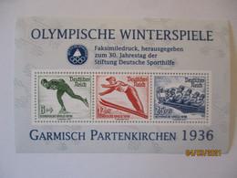 Sport Olympia Garmisch 1936, Vignettenblock 1997 (43208) - Unclassified