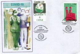 ANDORRA.FR. Covid-19. Homenaje A Los Héroes Cotidianos, Héroes De La Crisis De Covid. FDC De Andorra FR - Briefe U. Dokumente