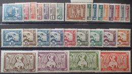 R2452/255 - 1931/1939 - COLONIES FR. - INDOCHINE - SERIE COMPLETE - N°150 à 170 NEUFS* (N°157A NEUF** BdF) - Ungebraucht