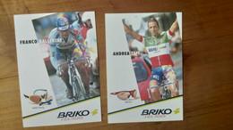 Cyclisme - Carte Publicitaire BRIKO : TAFI Et BALLERINI - Cycling