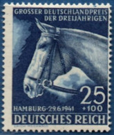Germany 1941 Blue Ribbon German Derby Three Year Old Horses, 1 Value MNH 2103.0528 Equestrian - Horses