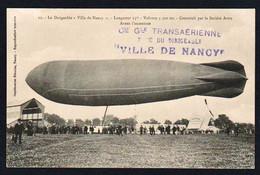 """NANCY: Plan TOP Sur Le Dirigeable """"Ville De Nancy"""" évolutions Du 3 Au 13 Septembre 1909. - Nancy"""