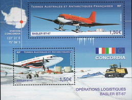 French Antarctic Territories 2021, Operation Logstic Base, MNH S/S - Neufs