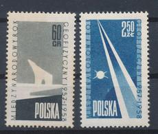POLEN / POLAND / POLSKA  -  1958  ,   Internationales Geophysikalisches Jahr  -  Michel  1061/62   MNH / ** - Unused Stamps