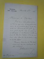 Lettre Autographe Henri TAILLIANDIER (1847-1914) Député Du PAS DE CALAIS - Parti  Action Libérale - Autographs