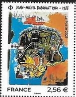 France 2021, Contemporary Art - Jean-Michel Basquiat, MNH Single Stamp - Neufs