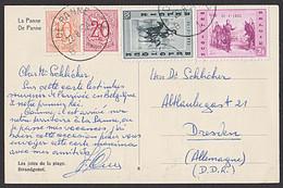 Belgien De Panne La Panne CAK 1957 Strandgenot Les Joies De La Plage - Cartas