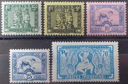 R2452/260 - 1941 - COLONIES FR. - INDOCHINE - SERIE COMPLETE - N°214 à 218 NEUFS* - Ungebraucht