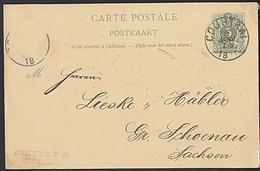Belgien Cortrai  5 Centimes Ganzsachenkarte Carte Postale Postkaart - Cartas