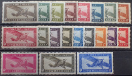 R2452/262 - 1933/1941 - COLONIES FR. - INDOCHINE - POSTE AERIENNE - 2 SERIES COMPLETES - N°1 à 14 + N°17 à 19 NEUFS* - Luftpost