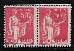 N°283p Type IIA Et I Se Tenant Horizontalement, Paire N*, TB, Cote 250 Euros, Voir Photos - 1932-39 Paz