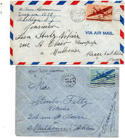 USA. 2 Enveloppes Cover 1946,1947. - Briefe U. Dokumente