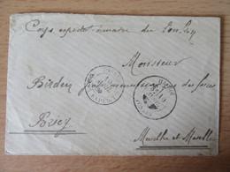 Corps Expéditionnaire Du Tonkin - Enveloppe Vers Briey - Cachets Du 10 Avril Dont HA-NOÏ - Vers 1885 - Briefe U. Dokumente