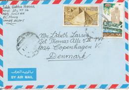 Egypt Air Mail Cover Sent To Denmark 1985 - Poste Aérienne