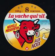 étiquette Fromage La Vache Qui Rit Bel 8 Portions 140g  Aux Noix Nouvelle Présentation  04 07 94 - Formaggio