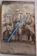1917 1918 Infanterie Française équipement Fusils Berthier Casque Adrian 14-18 Tranchée Poilu Photo Ww1 - War, Military
