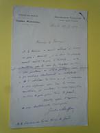 Lettre Autographe Jules AUFFRAY (1852-1916) Homme Politique - ROYALISTE - BOULANGISTE - ANTI DREYFUSARD - Autographs