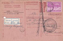 Carte Récépissé Roulette Retour Terug Impayé Onbetaald 770 Vignette Parti Pour Vertrokken - Cartas