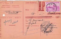 Carte Récépissé Roulette Retour Terug Impayé Onbetaald 770 - Cartas