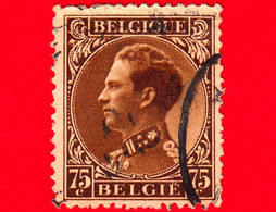 BELGIO - Usato - 1934 - Re Leopoldo III - 75 - 1934-1935 Léopold III